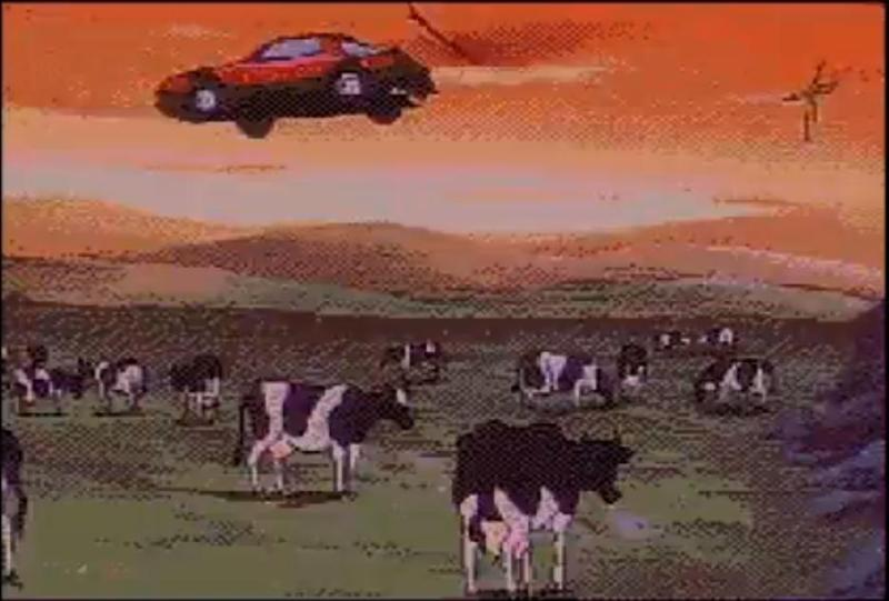 Even the cows aren't safe.